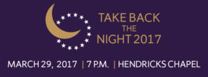 Take Back the Night Banner