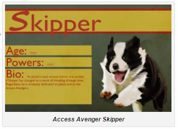 Access Avenger character, Skipper the dog