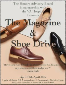 shoe drive poster