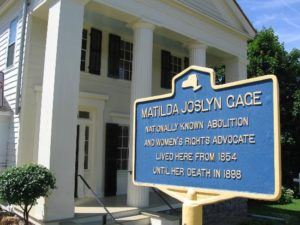 matilda-joslyn-gage-foundation historic sign