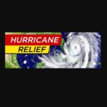 "weather map with caption ""Hurricane Relief"""