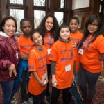 SU students with 5th graders