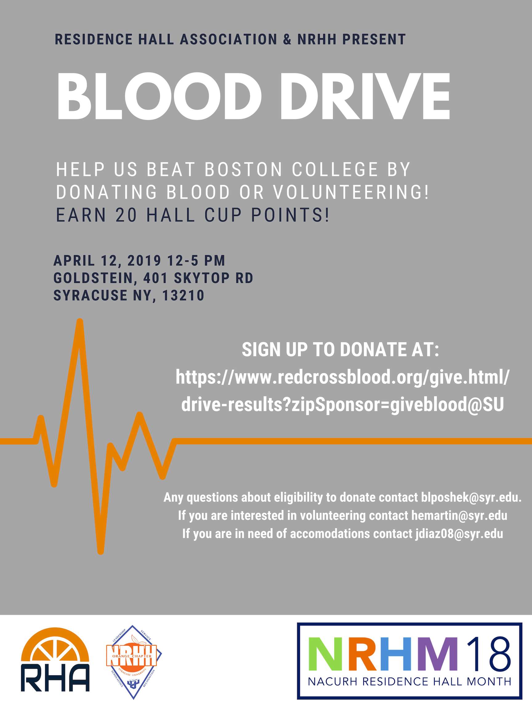 Syracuse RHA blood drive