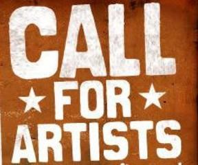 call for artists--block print letters