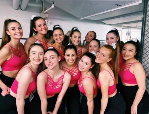 Maya-Kumar with the whole DanceWorks troupe