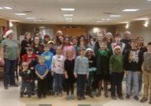 Group of Christmas carolers