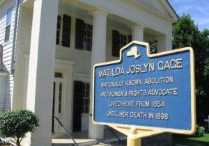matilda-joslyn-gage-foundation historic sign