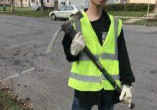 Kyle Zhen holding tool