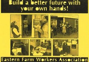 Poster with pictures of Eastern Farm Worker volunteers