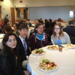 students at presentation day lunch