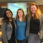 Jasmyn Chacko with her advisor Amanda Brown and reader Emma Ticio Quesada