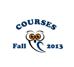 image of a drawn owl with the Spring 13 course label