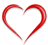 image of a heart shape with text to the giving link