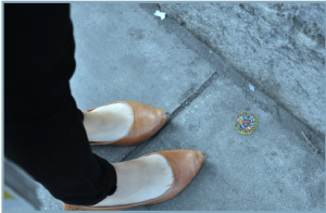 Image of Chewing Gum Art on Sidewalk