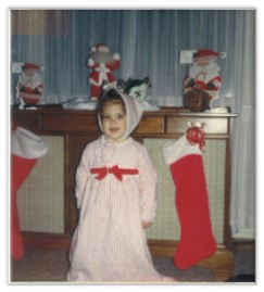 Karen at Christmas, age 2
