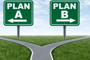 Plan A or B road signs