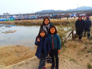 Tsubasa Moroika with her host sisters