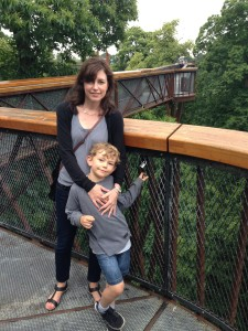 Image of Jolynn Parker with her son at a park