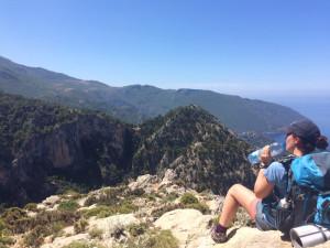 Emily on a mountain top
