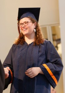 Lilly Thomann at Honors Convocation