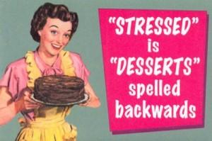 Retro Mom serves dessert