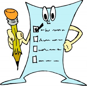cartoon of paper list