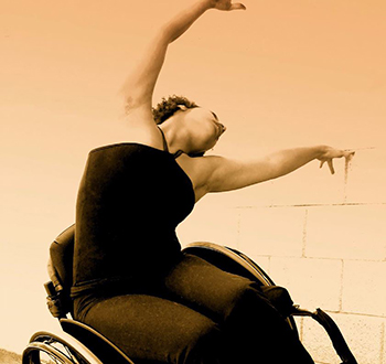 Dancer using wheelchair