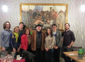 HNR 240 class in front of Ilya Repin painting