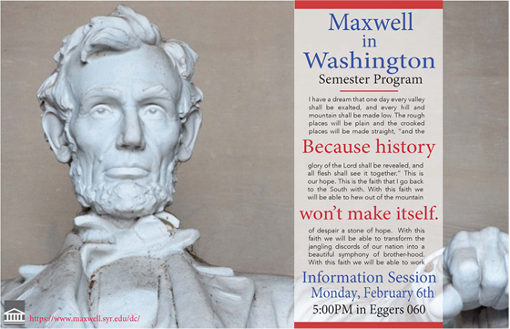 Maxwell in Washington flyer