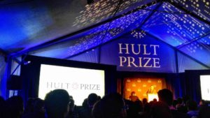 Tent and stage at Hult Prize competition