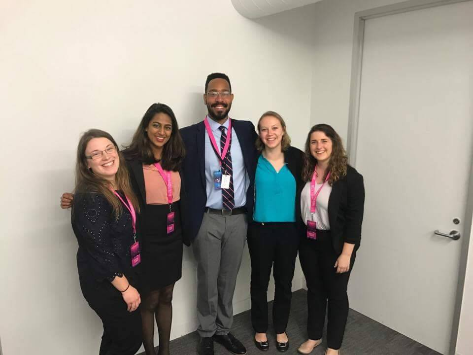 Patty Terhune, Anjali Alwis and teammates at Hult Prize competition