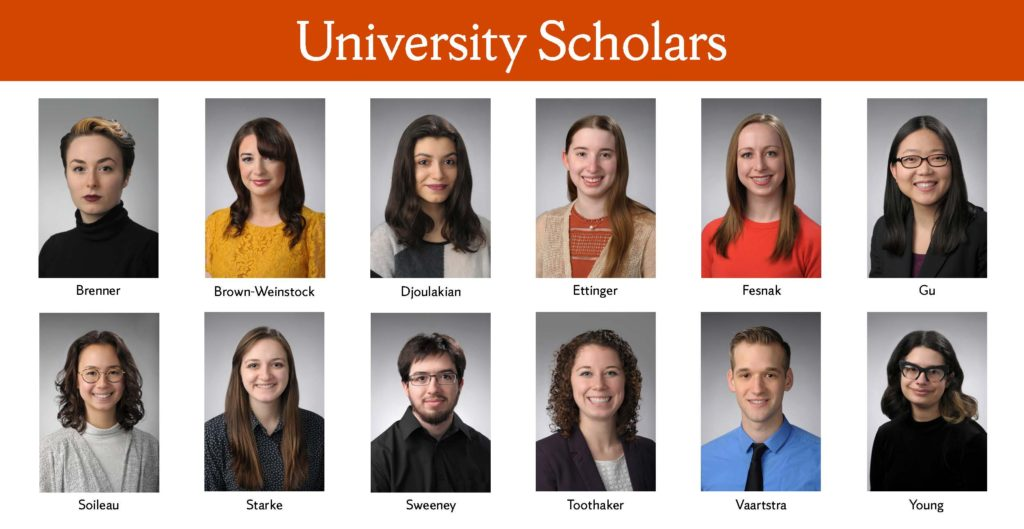 Photographs of 2017 University Scholars