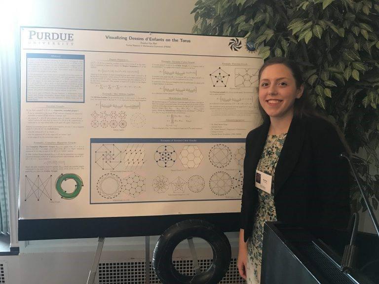 Danika Van Niel with research poster