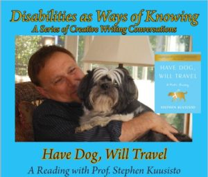 Picture of Stephen Kuusisto holding Dog