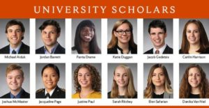 Portraits of 12 University Scholars