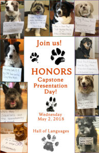 pictures of dogs holding capstone titles