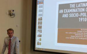 Corbin during his presentation