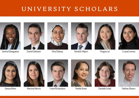 Headshots of 2019 SU Scholars