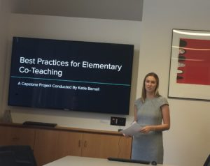 Picture of Katie Berell Presenting her Thesis