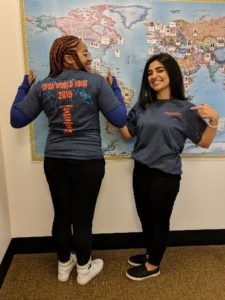 2019 Fulbright applicants Tajanae Harris and Samar Al- Any