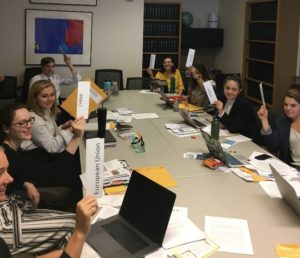 Students in Honors Environmental Governance class
