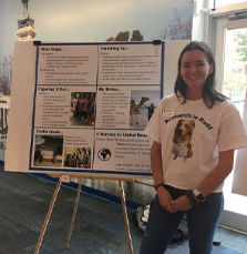 student presents research at fair 2019