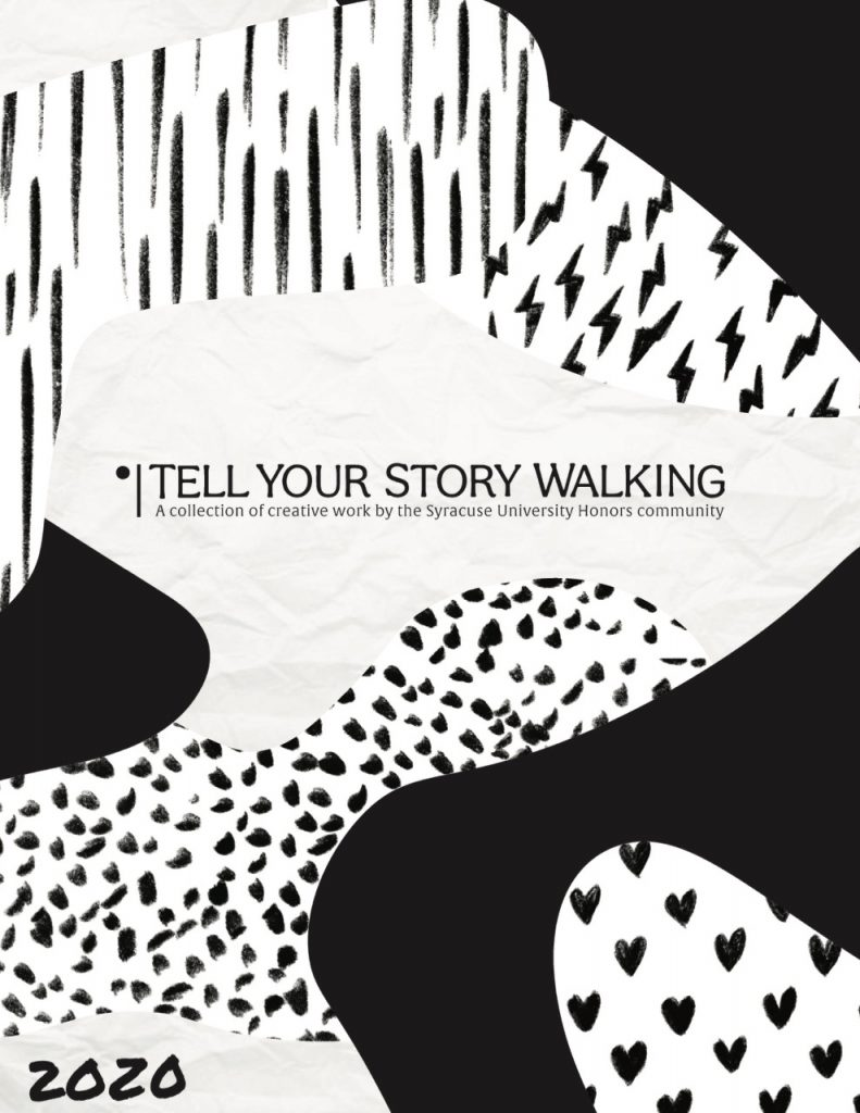 Cover Page for Tell Your Story Walking Anthology