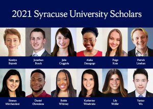 Collage of the 2021 SU Scholars