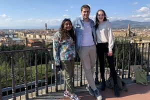 students with view of Florence
