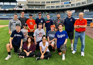 Honors class visit to the Syracuse Chiefs stadium in late September, 2018. Image by Margie Chetney